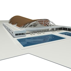 Polideportivo - Mar del Plata: Gimnasios de estilo  por GPA studio