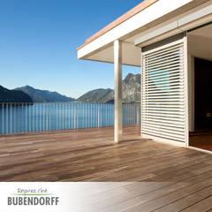 Terrazas de estilo  por Inteligentne Rolety Bubendorff, Escandinavo Aluminio/Cinc