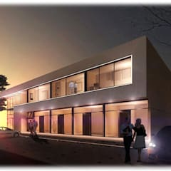 Renders Complejo Comercial - Pilar Oficinas y comercios de estilo moderno de GPA studio Moderno