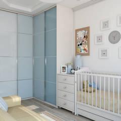 интерьер детской Tatiana Zaitseva Design Studio Детская комнатa в стиле минимализм Изделия из древесины Белый