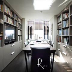 공사후: 로하디자인의  서재 & 사무실
