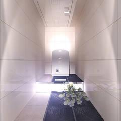 Сан узел в квартире панельного дома: Ванные комнаты в . Автор – Your royal design, Минимализм