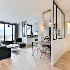 Little Loft Boulogne 43m²: Salon de style  par La Decorruptible
