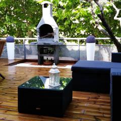 Hiên, sân thượng by Quercus Jardiners