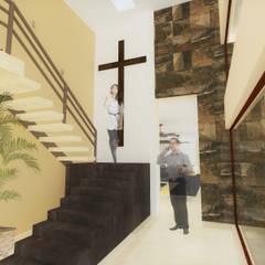 ESPACIO PRIVADO : Pasillos y recibidores de estilo  por ANGOLO-grado arquitectónico