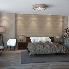 House Renovation, Mexico:  Bedroom by Inspiria Interiors, Modern