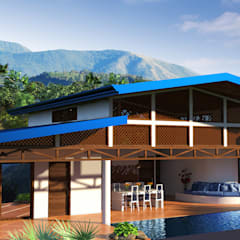 Ocean View House Design, Costa Rica:  Houses by Inspiria Interiors