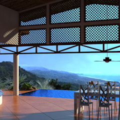 Ocean View House Design, Costa Rica:  Terrace by Inspiria Interiors