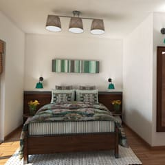 Country style Interior for an apartment, Sofia:  Bedroom by Inspiria Interiors