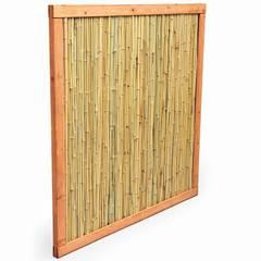 Bambus Sichtschutz mit Holzrahmen.:  Terrasse von Bambuskontor