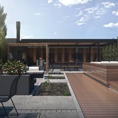 Espacio Cramer: Terrazas de estilo  por TDC - Oficina de arquitectura