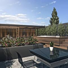 Espacio estar: Terrazas de estilo  por TDC - Oficina de arquitectura
