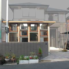 Anexos de estilo  por 株式会社グランデザイン一級建築士事務所, Ecléctico Madera maciza Multicolor