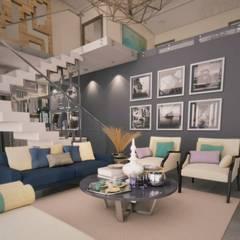 Sala Diez y Nueve Grados Arquitectos Salones modernos