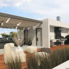 بلكونة أو شرفة تنفيذ Diez y Nueve Grados Arquitectos