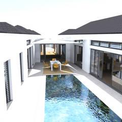 Rezydencja -Karaiby: styl , w kategorii Basen zaprojektowany przez Biuro Architektoniczno-Budowlane s.c.