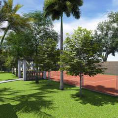Hacienda Privée - Ambiance Exotique Costa del Sol: Jardin de style de style Tropical par PALMA CONCEPT
