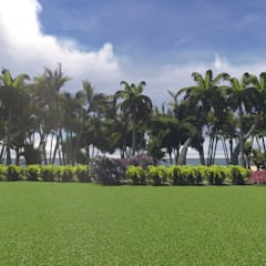 Hacienda Privée - Ambiance Exotique Costa del Sol: Jardin de style  par PALMA CONCEPT, Tropical