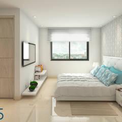Evora85: Habitaciones de estilo  por Area5 arquitectura SAS,