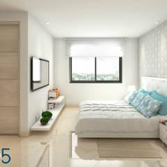 Evora85: Habitaciones de estilo  por Area5 arquitectura SAS