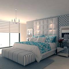 Reforma Vivienda - Primera linea de mar: Habitaciones de estilo  por Area5 arquitectura SAS