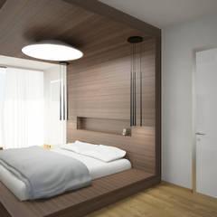 LK villa's interior design:  Schlafzimmer von nadine buslaeva interior design