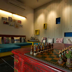 Mr. Harsh Patel Residance:  Media room by U design studio