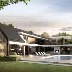 LANDELIJK MODERNE HOEVE KORSPEL:  Huizen door DENOLDERVLEUGELS Architects & Associates