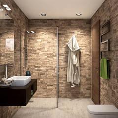 modern Bathroom by KRISZTINA HAROSI - ARCHITECTURAL RENDERING