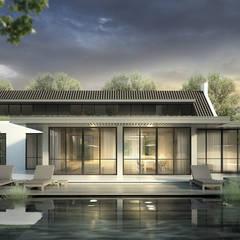 LANDELIJK MODERNE HOEVE GEEL: landelijke Huizen door DENOLDERVLEUGELS Architects & Associates