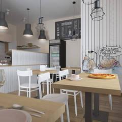 Sala konsumpcyjna : styl , w kategorii Gastronomia zaprojektowany przez ZAWICKA-ID Projektowanie wnętrz
