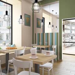 Wejście do lokalu: styl , w kategorii Gastronomia zaprojektowany przez ZAWICKA-ID Projektowanie wnętrz