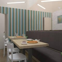Salka konsumpcyjna: styl , w kategorii Gastronomia zaprojektowany przez ZAWICKA-ID Projektowanie wnętrz