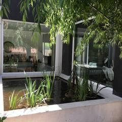 Casa FM: Jardines de estilo  por MFARQ - Tomas Martinez Frugoni Arq,Moderno