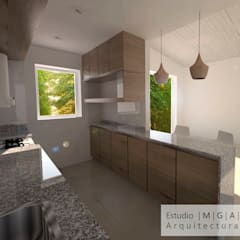 آشپزخانه توسطESTUDIO MGA, مدرن