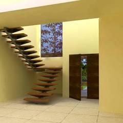 Proyecto en country Los Olivos  Casa PZNL: Pasillos y recibidores de estilo  por Obras & Proyectos