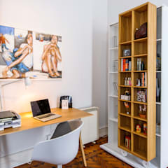 scandinavian Study/office by Espaço Mínimo