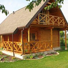 BIEDRONKA - PEŁEN UROKU DOM LETNISKOWY: styl , w kategorii Domy zaprojektowany przez Biuro Projektów MTM Styl - domywstylu.pl