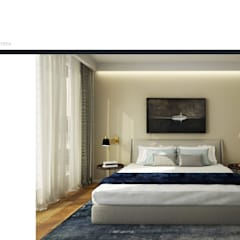 Palácio Condes de Murça : Quartos  por DZINE & CO, Arquitectura e Design de Interiores