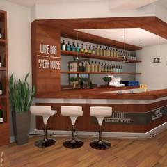 Restauracja T-Bone: styl , w kategorii Gastronomia zaprojektowany przez MARTA PAWLAK  ARCHITEKTURA  WNĘTRZ