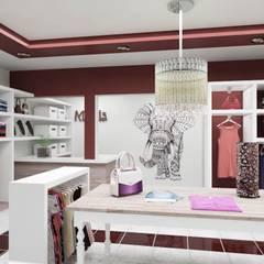 Mahila - Tienda de Ropa: Shoppings y centros comerciales de estilo  por VI Arquitectura & Dis. Interior