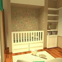 Dormitorio bebe y juvenil: Dormitorios infantiles de estilo moderno por Estudio BDesign