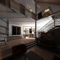 Diseño de vivienda unifamiliar Timotes- Mérida-Venezuela : Pasillos y vestíbulos de estilo  por Diseño Store