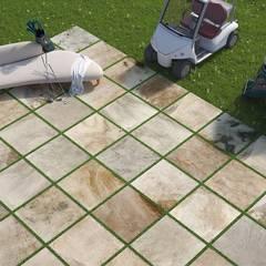 Plaza Yapı Malzemeleri – Golf & Bahçe Seramik:  tarz Bahçe