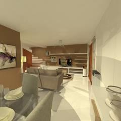 Duplex - Altos del Suquía: Comedores de estilo  por ER Design.    @eugeriveraERdesign