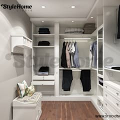 eclectic Dressing room by homify