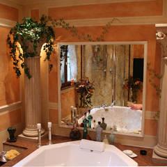Villa Medici - Landhauskuechen aus Aschheim Mediterranean style bathrooms Marble Beige