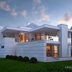Ein elegantes Einfamilienhaus:  Häuser von LK&Projekt GmbH