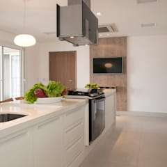 Projeto Apto Residencial APK: Cozinhas  por Deborah Basso Arquitetura&Interiores