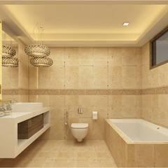MANTRI ESPANA, BANGALORE. (www.depanache.in):  Bathroom by De Panache  - Interior Architects